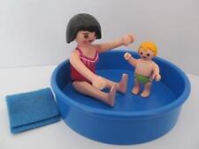 PLAYMOBIL VACANCES/dollshouse Extra Set: pataugeoire + maman & bébé Figures NEW