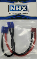NHX Deans Female to 2 EC3 Male Series Wire Harness 12 AWG / 6 Inch