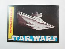 1977 Wonder Bread STAR WARS #14 Trading Card Star Destroyer