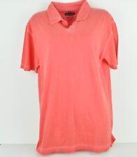 Red Jacket Medium See Trough Salmon Cotton Polo Tshirt Short Sleeve Mens Tee