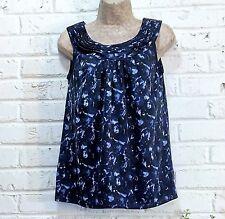 Ann Taylor LOFT Women's XS Tunic Top Sleeveless Blue
