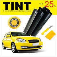 CAR WINDOW TINT FILM TINTING SUPER BLACK LIMO VLT 25% 76cm x 6M SUN GLARE KIT