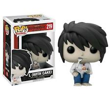 "Exclusivo Death Note L Con Pastel 3.75"" POP VINILO FIGURA FUNKO 219 Shonen Jump"