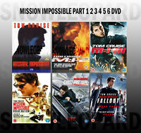 MISSION IMPOSSIBLE COL 1 2 3 4 5 6 DVD Ghost Protocol Rogue Nation Fallout NEW