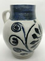Vintage Colonial WILLIAMSBURG Pottery Approved Souvenir Salt Glaze Cobalt jug