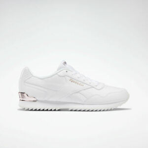 Reebok Classics Royal Glide Ripple Clip Shoes White / Rose Gold Women's Trainers