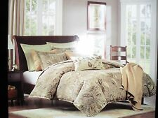 HAMPTON HILL SUGAR PLUM 6 PIECE DUVET STYLE COMFORTER SET NEUTRAL EMBROIDERED