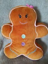 Gingerbread Man Woman Plush Soft Toy Cushion Pillow Beanie