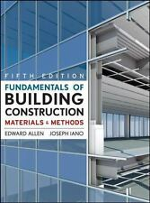 Fundamentals of Building Construction : Materials and Methods by Edward Allen...