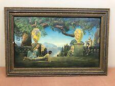 "Vintage Wood Framed ""Garden of Melody"" Print by Roy Grossman"