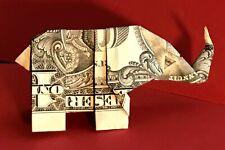 Money Origami Eye Elephant Animal Mit Real One Dollar Bill ... | 150x225