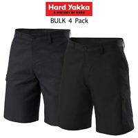 Mens Hard Yakka Gen Y Cargo Shorts 4PK Poly Super Crease Work Press Comfy Y05590