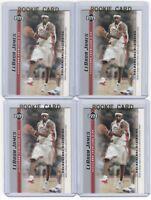 4 LEBRON JAMES 2003-04 Upper Deck Rookie Card RC lot/set Mint Gold Top Loader 16