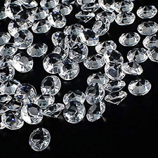 OUTUXED 1000pcs Clear Wedding Table Scattering Crystals Acrylic Diamonds Wedding