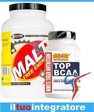 Maltodextrina Carbohidratos GR1000 + Bcaa Aminoácidos 100 Cpr Suplemento