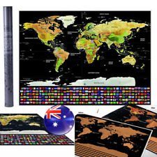 Scratch Off Map World Large Personalized Travel Poster Travel Atlas AU NSW Local