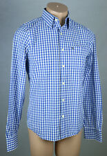 Original Abercrombie & Fitch Hombre Camisa talla s azul blanco