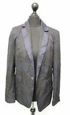 Ladies DIESEL Black Blue Single Breasted Blazer Jacket Size S NEW  - B25