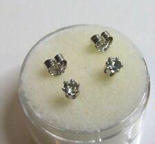 3 mm Green Sapphire gemstone stud earrings in sterling silver