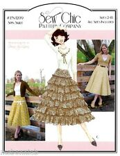 Sew Chic Spin Skirt Flared w/Fitted Yoke 3 Views size 2-18 Sewing Pattern LN1209