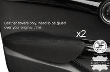 Puntada Negro 2X Puerta Delantera Apoyabrazos Cuero Cubiertas Para BMW Mini Cooper 14-17 F55