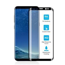 FULL CURVED TEMPERED S9  Glass Galaxy 3D TouchScreen Screen Protector BLACK