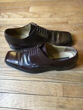 Mezlan LINOSA Brown Cordovan Leather Mens Dress Shoes Size 9.5 M Made In Spain