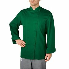 NEW MEN CHEFWEAR WINDSOR COTTON CHEF COAT KELLY GREEN