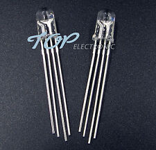 50Pcs 5mm 4pin RGB Tri-Color Common Anode LED light Red Green Blue