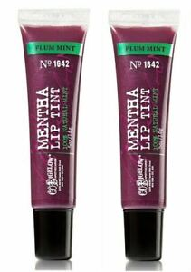 2 Bath & Body Works C.O.Bigelow MENTHA Lip Tint PLUM MINT .5 oz NEW Sealed