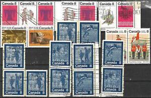 Kanada gestempelt #1365/6 >> ZD aus Jahr 1973-1978 <<