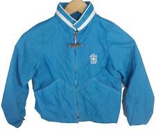 Weather Tamer Boys Size 7 Jacket Blue Zip Up Hood Vintage 1970s 70s USA Vtg