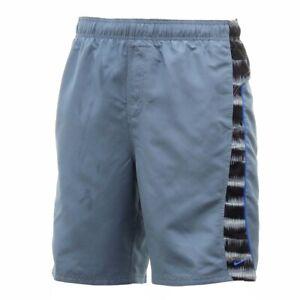Nike Men's Contrast Side & Back Blue Graphite Swim Trunk Volley Shorts Swimwear