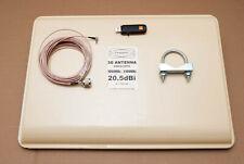 Mobile Broadband Antenna 20.5dBi 3G UMTS Panel CRC9 + Dongle 10M cable RRP £99