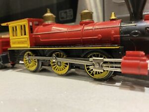 Tri-ang 00-HO Vintage R.358 S Old Time Locomotive Davy Crockett With TenderSmoke