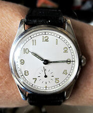 Gents 1940s Swiss SS WW2 Era Military Spec. Ebel cal 99 Wind Up Watch Serviced