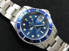 ALPHA Reloj Automático 21 Rubíes Blue Dial & Bisel Submarino MIYOTA Movimiento