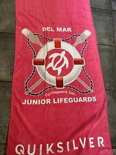 New listing Del Mar Junior Lifeguard Beach Towel : Quiksilver Beach Towel 30 x 60