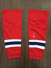 NEW Firstar Stadium Pro Adult Red & Blue Hockey Socks . Montreal Canadiens NWT