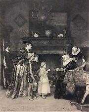 Visite aux grands parents Florent Willems 1823-1905 Louis Lenain 1851-1903