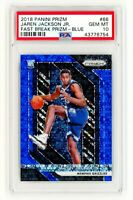 JAREN JACKSON JR. 2018 Panini Fast Break BLUE Prizm 66 PSA 10 GEM MINT ROOKIE RC