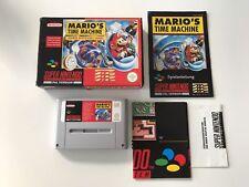 Super Nintendo SNES Spiel Marios Time Machine   // TOP // OVP CIB  #161