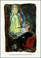 1948 Howard Baer risque comic art secretary dictation boss vintage print adL44