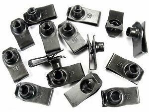 GM Truck U-nut Clips- M8-1.25 Thread- 20mm Center To Edge- 15 clips- #195