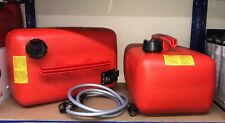 2x Quicksilver 25 Litre Fuel Tank & 8FT Fuel Line For Mariner Mercury Outboard