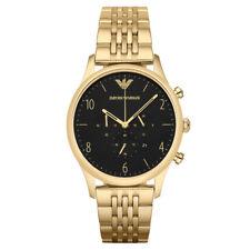 Emporio Armani AR1893 Classic Herren Chronograph Edelstahl Gold Armbanduhr Datum