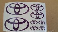 Toyota Emblems / Stickers / Decals - assorted, 8 total, multiple colors
