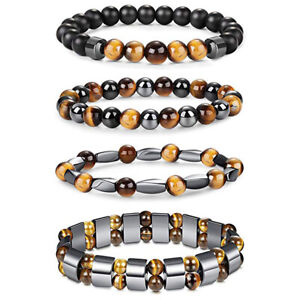Natural Tiger Eye Hematite Men Magnetic Balance Beads Bracelets Women Jewelry