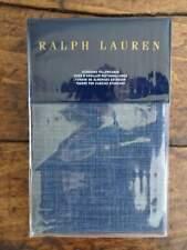 RALPH LAUREN ARTISAN LOFT Laight 2 Dark BLUE STANDARD PILLOWCASES