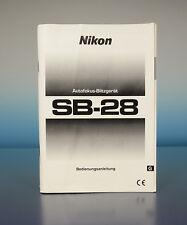 Nikon sb-28 manual de instrucciones en alemán german manual - (200169